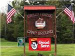 View larger image of The front entrance sign at CRAZY HORSE FAMILY CAMPGROUND image #1