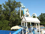 View larger image of Large towering childrens water slide at community pool at BULL RUN REGIONAL PARK image #3