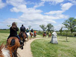 View larger image of People riding horses at ARTILLERY RIDGE CAMPING RESORT  GETTYSBURG HORSE PARK image #5