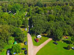 View larger image of Aerial view of park with trees at BINGEMANS CAMPING RESORT image #3
