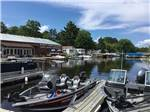 View larger image of Boats docked near resort  at STONY POINT RESORT RV PARK  CAMPGROUND image #2