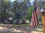 View larger image of USA flag with RVs parked in sites at STONY POINT RESORT RV PARK  CAMPGROUND image #4