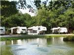 View larger image of Trailers camping on the water at FORT TATHAM RV RESORT  CAMPGROUND image #4