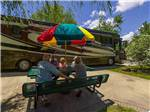 View larger image of Couples camping in RV at HOLIDAY TRAV-L-PARK image #7