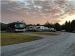 View larger image of RVs and trailers at campground at PONDEROSA PINES CAMPGROUND image #2