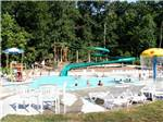View larger image of The swimming pool area with a slide at DRUMMER BOY CAMPING RESORT image #6