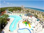 View larger image of Aerial view over waterpark at OCEAN LAKES FAMILY CAMPGROUND image #8
