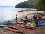 View larger image of Campers kayaking at POHICK BAY REGIONAL PARK image #2