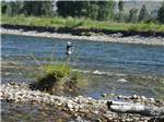 View larger image of Man fishing at RIVERBEND RV PARK OF TWISP image #4