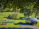 View larger image of A gravel RV site with a picnic table at HERSHEYPARK CAMPING RESORT image #1