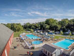 View larger image of An aerial view of the pools and buildings at HERSHEYPARK CAMPING RESORT image #3