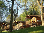 View larger image of A outside view of the camping cabins at HERSHEYPARK CAMPING RESORT image #6