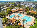 View larger image of An aerial view of the pickelball courts at GOLDEN VILLAGE PALMS RV RESORT - SUNLAND image #2