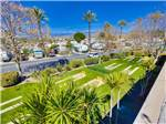 View larger image of An aerial view of the horseshoe pits at GOLDEN VILLAGE PALMS RV RESORT - SUNLAND image #12