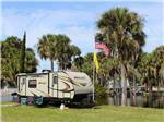 View larger image of Trailer camping on the water at RAMBLERS REST RV CAMPGROUND image #1