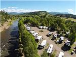View larger image of Aerial view over RV campground and stream at PAGOSA RIVERSIDE CAMPGROUND image #1