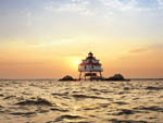 View larger image of Lighthouse at sunset at HOLIDAY PARK CAMPGROUND image #11