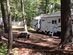 View larger image of Trailer with picnic table at OAK HAVEN FAMILY CAMPGROUND image #8
