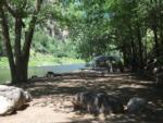 View larger image of A tent site by the river at GLENWOOD CANYON RESORT image #6