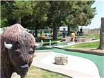 View larger image of Mini golf course and buffalo statue at ANDERSON CAMP image #7