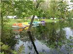 View larger image of Pedal boats near the lake at LANSING COTTONWOOD CAMPGROUND image #6
