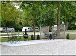View larger image of Patio area at FAYETTEVILLE RV RESORT  COTTAGES image #1