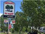 View larger image of Sign at park entrance at PHILLIPS RV PARK image #1