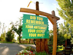 View larger image of Sign as you exit RV park at YELLOWSTONE RIVER RV PARK  CAMPGROUND image #9