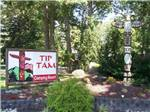 View larger image of Sign at entrance to RV park at TIP TAM CAMPING RESORT image #2