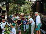 View larger image of Kids trick or treating in resort at HIAWATHA TRAILER RESORT image #2