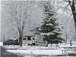 View larger image of Trailers camping in the snow at WALNUT HILLS CAMPGROUND AND RV PARK image #4
