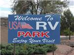 View larger image of Welcome to USA RV park sign at USA RV PARK image #1