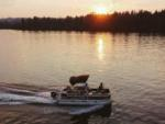 View larger image of Cabin with deck at HARMONY LAKESIDE RV PARK  DELUXE CABINS image #10