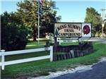 View larger image of The front entrance sign at KING NUMMY TRAIL CAMPGROUND image #1