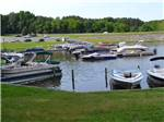 View larger image of Big rig parked in site with a person sitting at picnic table at CHRISTOPHER RUN CAMPGROUND image #3