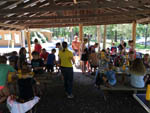 View larger image of Group activity in the pavilion at HARRISONBURGSHENANDOAH VALLEY KOA image #3
