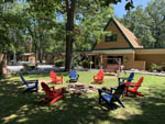 View larger image of Circle of chairs on the office lawn at HARRISONBURGSHENANDOAH VALLEY KOA image #9