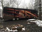 View larger image of Big rig in a snowy site at HARRISONBURGSHENANDOAH VALLEY KOA image #12