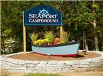 View larger image of Sign at entrance to RV park at SEAPORT RV RESORT  CAMPGROUND image #1