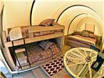 View larger image of Inside of the rental cover wagons at PAGE LAKE POWELL CAMPGROUND image #5