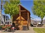 View larger image of One of the rustic rental cabins at GUNNISON LAKESIDE RV PARK  CABINS image #2