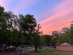 View larger image of The RV sites at dusk at COZY CREEK FAMILY CAMPGROUND image #8