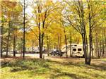 View larger image of Fifth wheel backed in on grassy site at TRANQUIL TIMBERS CAMPING RETREAT image #9