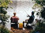 View larger image of Couple fishing at GINNY-B CAMPGROUND image #2