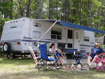 View larger image of Couple camping at CAPE CODS MAPLE PARK CAMPGROUND  RV PARK image #8