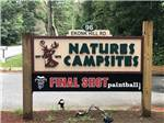View larger image of The front entrance sign at NATURES CAMPSITES image #1