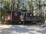 View larger image of A cabin that looks like a train caboose at NATURES CAMPSITES image #5