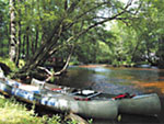 View larger image of Canoe on river at WINDING RIVER CAMPGROUND image #11