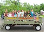 View larger image of Kids on wagon ride at CAMP BELL CAMPGROUND image #1
