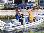View larger image of Boat docked at JOLLY ROGER RV RESORT image #4